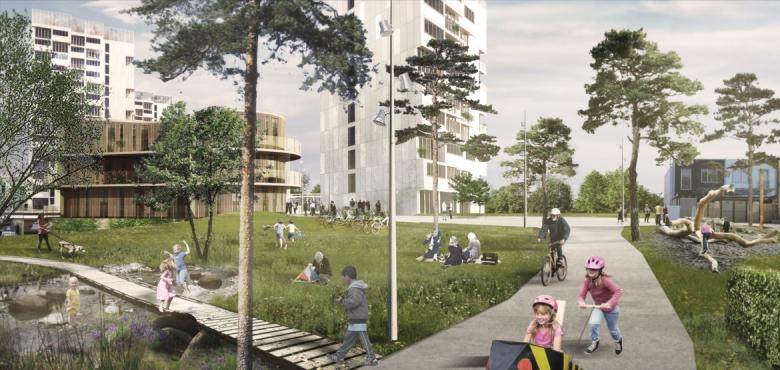 Helhedsplanen for Brøndby Strand Parkerne sigter mod at blive DGNB-certificeret